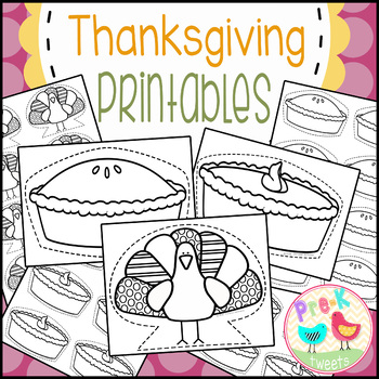 Thanksgiving Pie and Turkey Printables