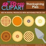 Thanksgiving Pies Clip Art (Digital Use Ok!)