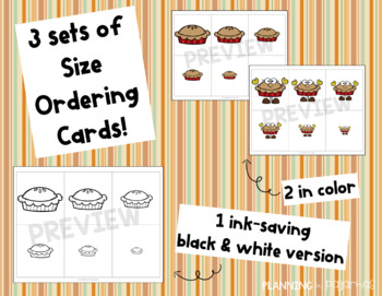 Thanksgiving Pies Size Ordering (From Smallest to Largest)
