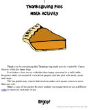 Thanksgiving Pies Math Activity
