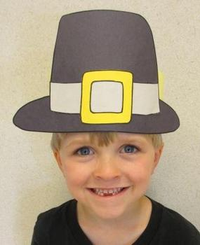 Thanksgiving Pilgrim Boy Sentence Strip Hat