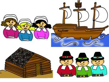 Thanksgiving Pilgrim Clipart by Learning 4 Keeps Design!