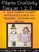 Thanksgiving Pilgrim Craftivity - Writing and Craft Bulletin Board Set K, 1, 2