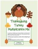 """Thanksgiving Pilgrim Friends Math"" 3 Digit Addition Regrouping(color&blackline)"