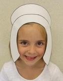 Thanksgiving Pilgrim Girl Sentence Strip Bonnet Hat