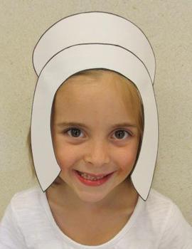 Thanksgiving Pilgrim Girl Sentence Strip Bonnet Hat