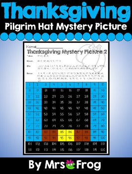 Thanksgiving Pilgrim Hat 120 Chart Mystery Picture