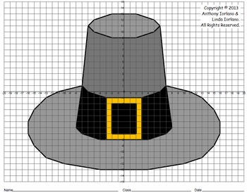 Pilgrim Hat Mystery Picture (4-Quadrants)