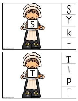 Thanksgiving Pilgrim Letter Match