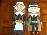 Thanksgiving Pilgrim Puppets