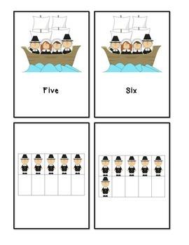 Thanksgiving Pilgrim Ten Frame Counting #1-10