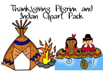 thanksgiving pilgrim and indian clipart pack by learning 4 keeps design rh teacherspayteachers com indian pilgrim clipart Thanksgiving Clip Art