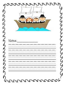 Thanksgiving Pilgrim and Wampanoag FREEBIE Info pack