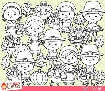 Thanksgiving Pilgrims Clipart