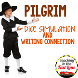 Thanksgiving Pilgrims Dice Simulation with Writing Connection