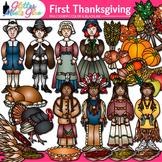 Thanksgiving Clip Art: Pilgrim & Native Americans {Glitter Meets Glue}