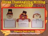 Thanksgiving: Pilgrims & Turkey Writing Craftivity