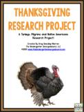 Thanksgiving Research Creation:  Pilgrims, Turkeys, Native Americans