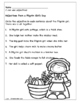 Thanksgiving Pilgrims and Indians 2nd Grade Literacy Packet
