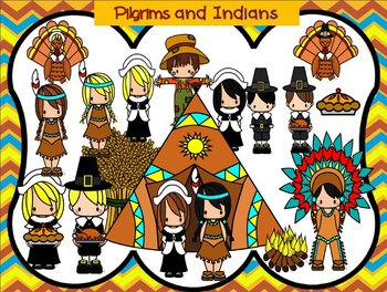 Thanksgiving Pilgrims and Indians and More