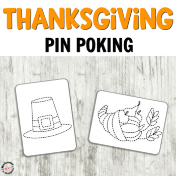Thanksgiving Pin Poking Printables for Fine Motor Activities
