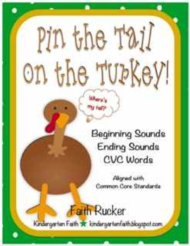 Thanksgiving Pin the Tail on the Turkey