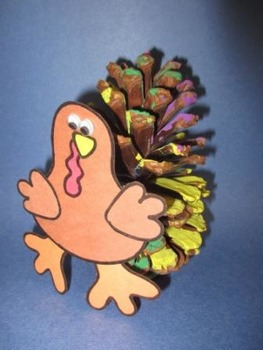 Thanksgiving Pine Cone Turkey Craft