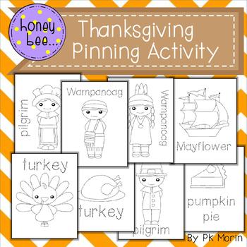 Thanksgiving Pinning Activity