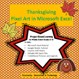 Thanksgiving Pixel Art in Microsoft Excel or Google Sheets