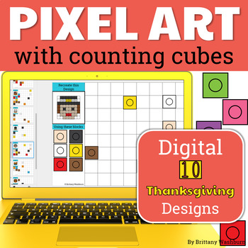 Thanksgiving Pixel Art with Counting Cubes