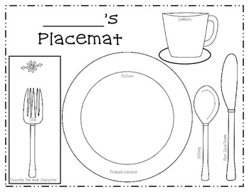 Thanksgiving Place Mat Reading Craft