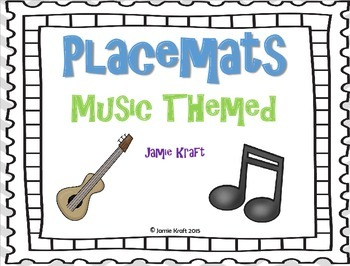 Placemats: Music Themed