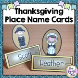 Thanksgiving Name Cards (Editable in PPT)