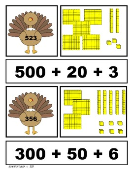 Thanksgiving Place Value
