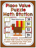 Thanksgiving Math Center Place Value 100 Chart Puzzle