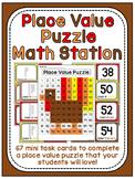 Thanksgiving Math Center Place Value 100 Chart Puzzle