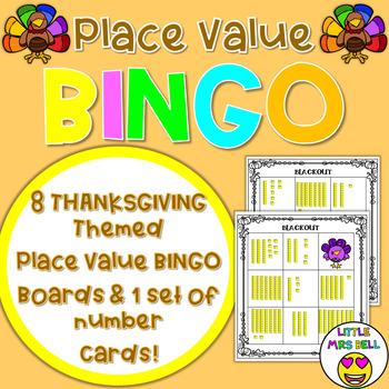 Thanksgiving Place Value Bingo