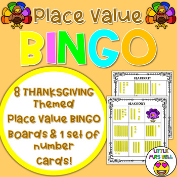 Thanksgiving Place Value Bingo