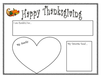Thanksgiving Placemat