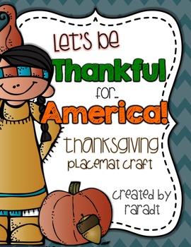 Thanksgiving Placemat Craft