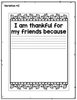 Thanksgiving Placemat Craftivity FREEBIE