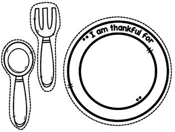 Thanksgiving Placemat - English and Spanish Thanksgiving Placemat