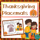 Thanksgiving Placemats Place Mats turkey feast