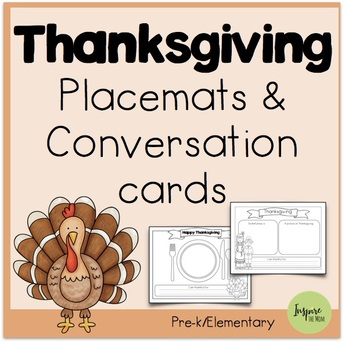 Thanksgiving Placemats and Conversation Cards
