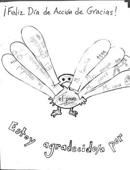 Thanksgiving Plan for Spanish Class