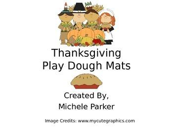 Thanksgiving Play Dough/Play-Doh/Playdough Mats