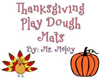 Thanksgiving Play Dough Mats