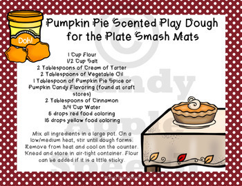 Thanksgiving Play Dough and Smash Mats