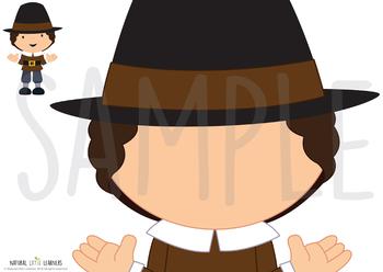 Thanksgiving Playdough Mats - Make a Thanksgiving Face!