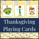 Thanksgiving Playing Cards